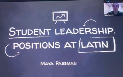 Senior Maya Passman presenting her Senior Project on