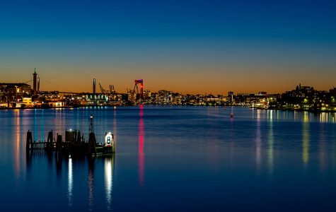 Gothenburg, Sweden, at night. Gothenburg is one city in a country that has taken an alternative approach to quarantine.