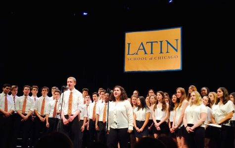 A cappella groups singing at choral concert