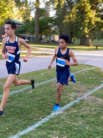 Miguel finishing strong at the Latin Prep Classic