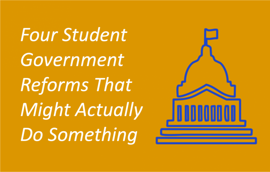Four Student Government Reforms That Might Actually Do Something