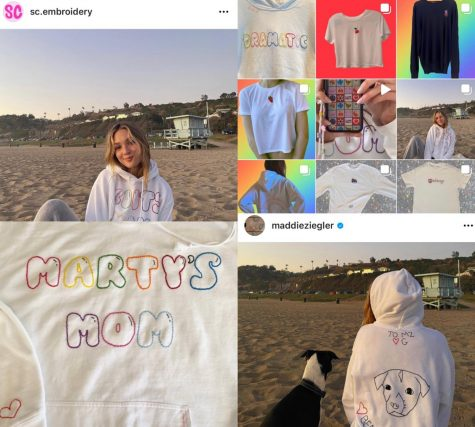 A compilation of Instagram posts featuring SC Embroidery.