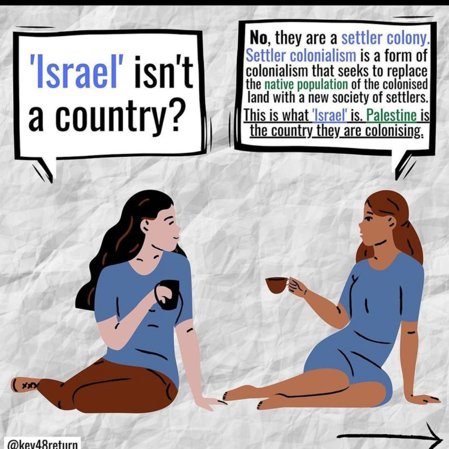The infographic post that @impact on Instagram shared, leading to controversy around the factual accuracy of Instagram posts on the Israel-Palestine conflict.