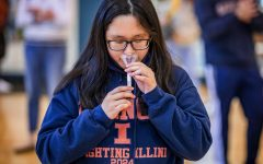 A University of Illinois student getting tested through Shield IL